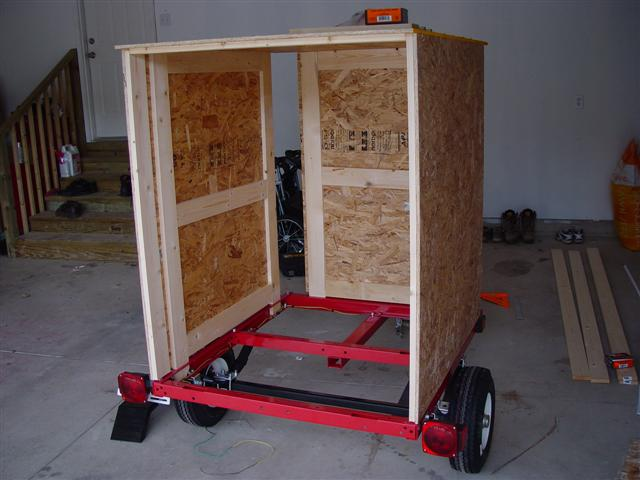 All are constructed in the same manner to fit the purchased trailer frame. We added one extra row of 1 x 4 at ...